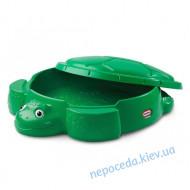 Песочница Черепаха с крышкой пластиковая little tikes 631566
