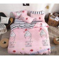 Комплект постельного белья сатин арт. S416 с компаньоном