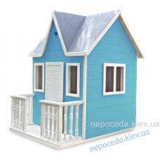"""Детский домик для улицы """"Веранда"""" голубой"""
