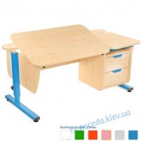 Письменный стол Школьник с тумбой на 2 ящика регулируемый по высоте