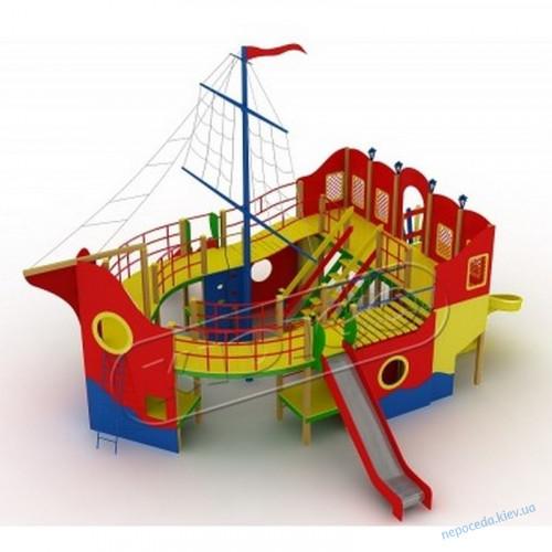 Детский комплекс Пираты на Корабле для уличной площадки