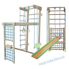 Спортивный комплекс для детей Трансформер с горкой 225см