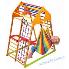 Детский игровой комплекс с гамаком KindWood Plus 1