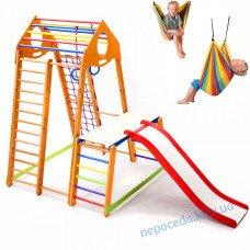 Дитячий комплекс з гамаком гойдалкою BambinoWood Plus 1-1 для дома