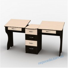 Письменный стол для двоих детей прямой СУ-6 близнецы
