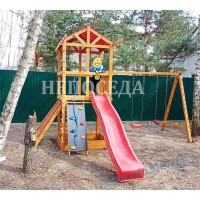 """Детская площадка""""Три элемента"""" на дачу из дерева"""