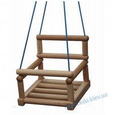 Качели подвесные деревянные для спортивного комплекса