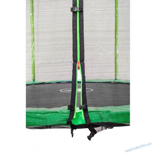 Батут Atleto 183 см с сеткой (без лесенки) зеленый