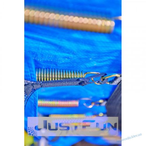 Батут Just Fun 244см Blue сеткa внутренняя + лесенка