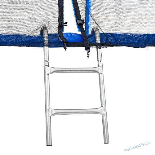 Батут Atleto 252 см с двойными ногами с сеткой (синий)