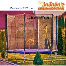 Батут 312 см с сеткой и лесенкой Мультицветной