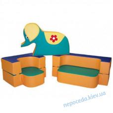 Детский диван-трансформер с игрушкой Слоник