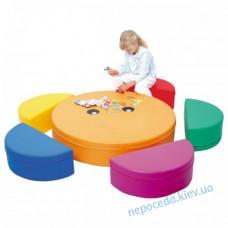 Комплект пуфиков и столик Цветик-Семицветик