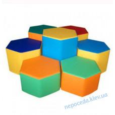 Комплект пуфиков игровой мебели Шестигранник