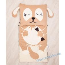 Спальний плед-конверт Щеня з рознімною блискавкою для дітей (є розміри)