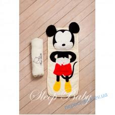 Спальний плед-конверт Міккі Маус дітям (розміри будь-які)