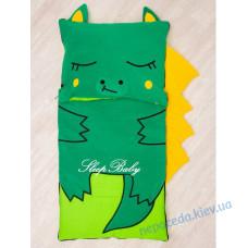 Хлопковый спальный плед-конверт с разъемной молнией Дракоша