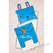Пледік-конверт на рознімною блискавки Зайченя бавовняний (дітям 2-10 років)