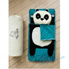 Спальний плед-конверт Панда дітям (розміри будь-які)