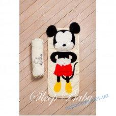 Спальный плед-конверт Микки Маус детям (размеры любые)