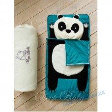Спальный плед-конверт Панда детям (размеры любые)