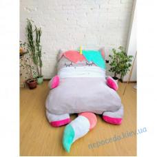 Детская кровать матрас мягкая игрушка Единорог (S)