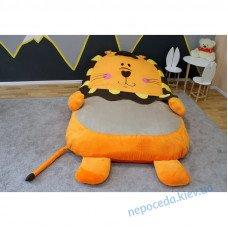 Детская мягкая кровать Львёнок (бескаркасная мебель) S