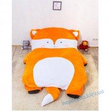 Детская мягкая игрушка кровать Лисичка (S)