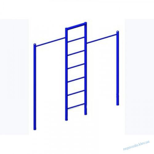 Турник для улицы двойной с лестницей