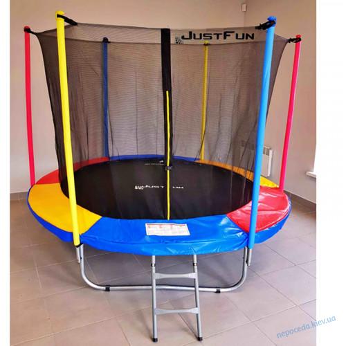 Детские батуты Just Fun Multicolor Батут 305см с сеткой и лесенкой