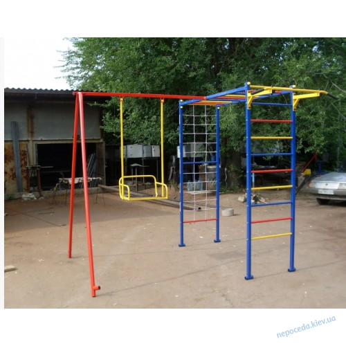 Спортивний ігровий вуличний комплекс Дельфін-3 з качелями