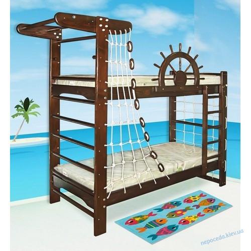 ОРЕХ Детская двухъярусная кровать-спортивный уголок «Пират-2»