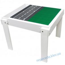 Детский столик-песочница с игровой поверхностью из дерева белый