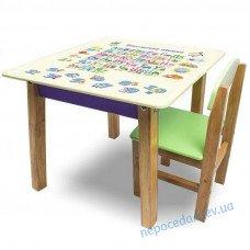 """Детский набор стол со стулом """"Woody"""" 60х60 см Азбука"""