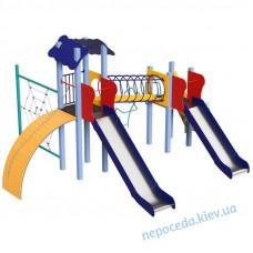 Детский комплекс Global Kid с горками и спортивным лазом