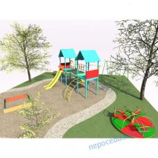 Детская игровая площадка проект №2 (4 элемента)