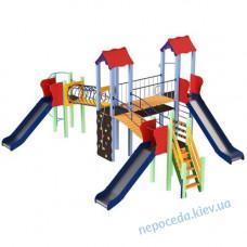 Детский комплекс Крабик с 3я горками