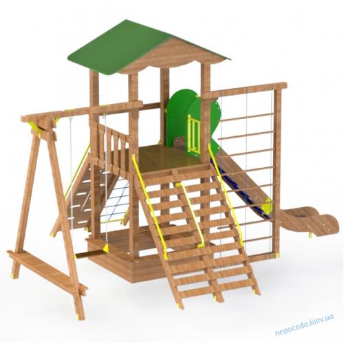 """Детская площадка """"Ранчо"""" из дерева  DIO1002.1 для  улицы"""