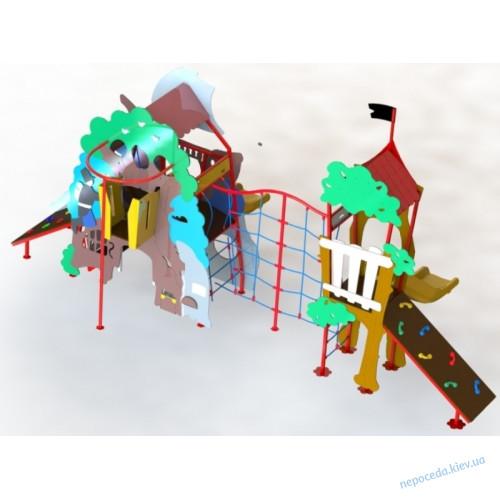"""Детский Игровой комплекс с пластиковой горкой """"Тридевятое царство"""" DIO 767"""