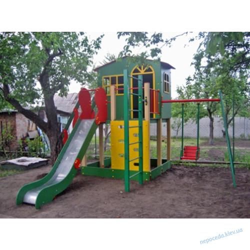 """Игровой комплекс Домик Горка Качели """"Харабуда"""""""