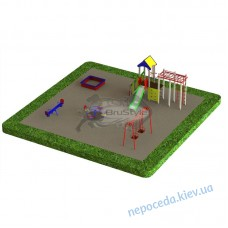 Детская площадка PG4 во двор. Набор игрового оборудования и качелей