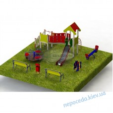 Детская площадка PG5 с игровым комплексом и качелями