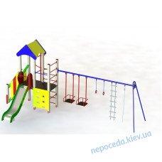 """DIO712.2 Вуличний дитячий ігровий комплекс """"Енотик плюс"""""""