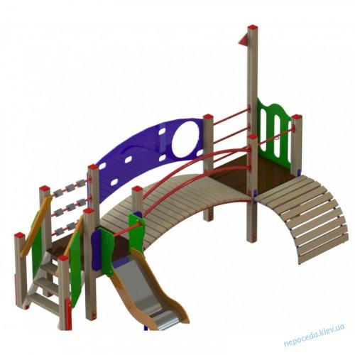 """Детская площадка для малышей """"Леонардо"""" с мостиком"""