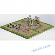 Детская площадка PG20 с игровым комплексом и качелями во двор