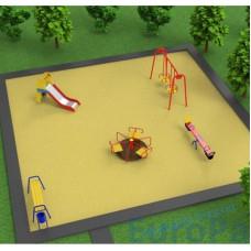 Проект детской площадки площадью 10*10м