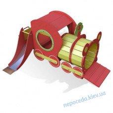 Игровой элемент для детской площадки Поезд с горкой