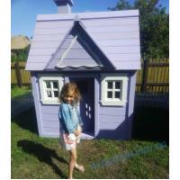 Деревянный домик для девочки Элли фиалковый