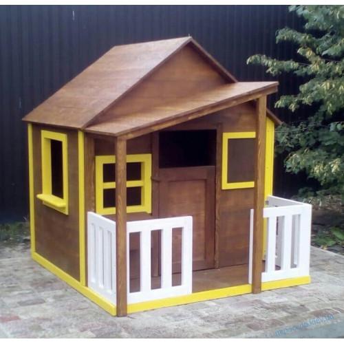 """Детский домик деревянный с навесом (160см) """"Лесник"""""""