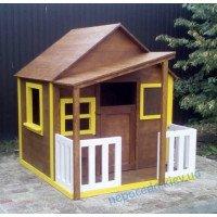 """Игровой домик из дерева для детей с навесом (160см) """"Лесник"""""""
